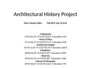 Arch 12 history project