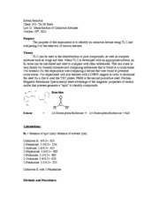 Chem 253 Ketone ID lab report