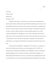 Music, History, and Culture Paper #4