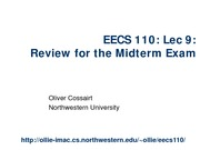Lecture 9_Midterm Review