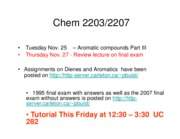 1 2008 Lecture 21 Aromatic Compounds Part III [Compatibility Mode]