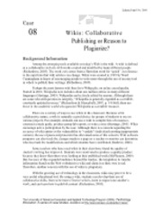 wikis and plagiarism 2_Case 8