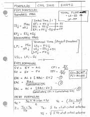 Construction Engineering Exam 2