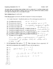 exam 2 fall 2009 solutions