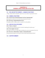 CHAPTER 18 - Chemical Reactions and Catalysis (MOL S11)