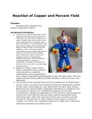 Reaction of Copper and Percent Yield.docx