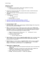CSC310 Test 1 Study Guide