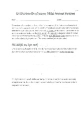 C344 Distributed Drug Discovery Lab Worksheet