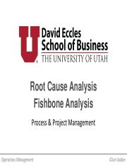 OIS 5000 Class Session 6 - Root Cause and Fishbone ONLINE