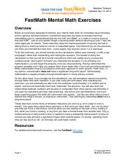 FastMath_Mental_Math_Exercises