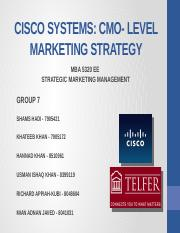 CMO Level Marketing Strategy -Cisco Systems-By Group 7.pptx