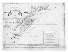 A Plan of the Attack of Fort Sullivan near Charles Town in South Carolina (1776)