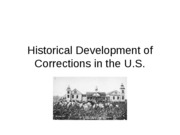 Historical Development of Corrections