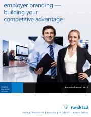 Article - employer branding — building your competitive advantage