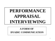 11APPRAISAL INTERVIEWING