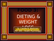 Revised Food 3 - Dieting & Weight Loss (Students' Version)