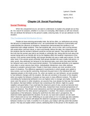 Chapter 14 Psychology notes