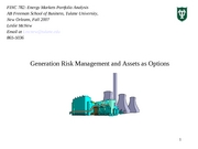 Generation Risk Mgt and Assets as Options