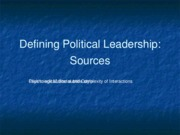 Defining Political Leadership Sources