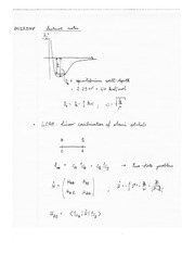 Chem 231 Linear Confuration of Atomic Models Notes
