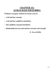 Gen Chem 2 Chapter 18 Part 1 (Acid-Base Equilibria)Tavss Review Questions