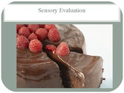 NHM250- Sensory Evaluation