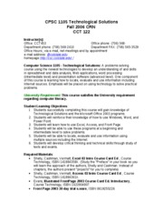CPSC1105-syllabus-Fall06