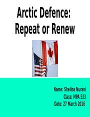 Arctic Defence_ Repeat or Renew.pptx