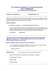 cs113 academic strategies for the business professional Cs113: academic strategies for the business professional unit 1 scavenger hunt assignment full name: two-digit section #: instructions: download this.