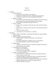 EAB3002 Chapter 5 notes