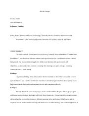 SPED article critique