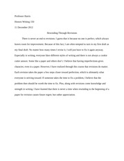 200 Word Reflection