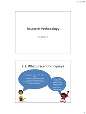 Research Methodology 2015 01 27