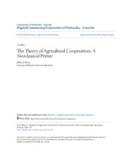 Royer Neoclassical theory of Ag Cooperatives