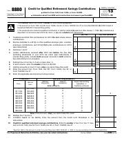 IRS Form 8880 - Credit for Qualified Retirement Savings Contributions