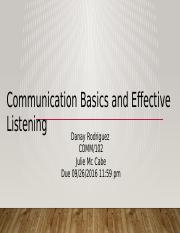 Communications basics and effective listening