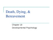 Chapter 19- Death, Dying, & Bereavement