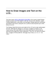 How to Draw Images and Text on the LCD