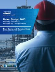 KPMG-Union-Budget-Real Estate and Construction-PoV-2015