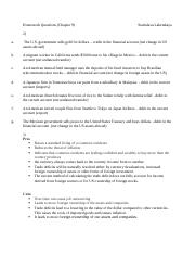 Homework Questions chapter 9