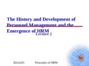 BAA203 - Lecture 2 - From PM to HRM.ppt