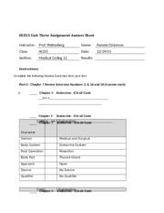 unit assignment sheet