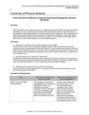 hcs 451 organizational performance management table and paper