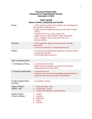 Org Sci Final Exam Study Guide