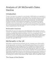 Analysis of UK McDonald.docx