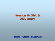 10 - XML and Query