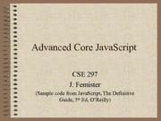 09 - Advanced Core JavaScript