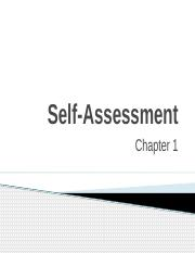 CH 1 - Self-Assessment