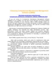 012.Choosing Computerized Maintenance Management Software (2p)