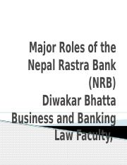 Major Roles of the Nepal Rastra Bank (.pptx